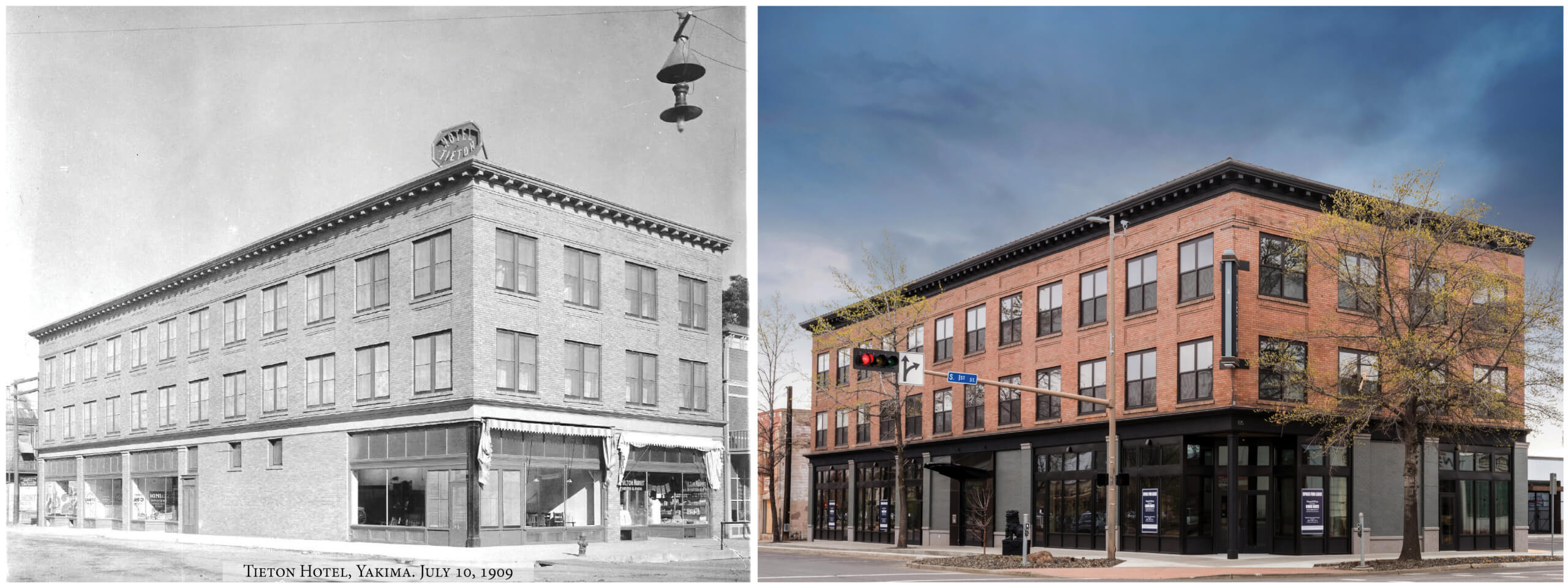 1909 Tieton Hotel and 2018 Tieton Mixed Use