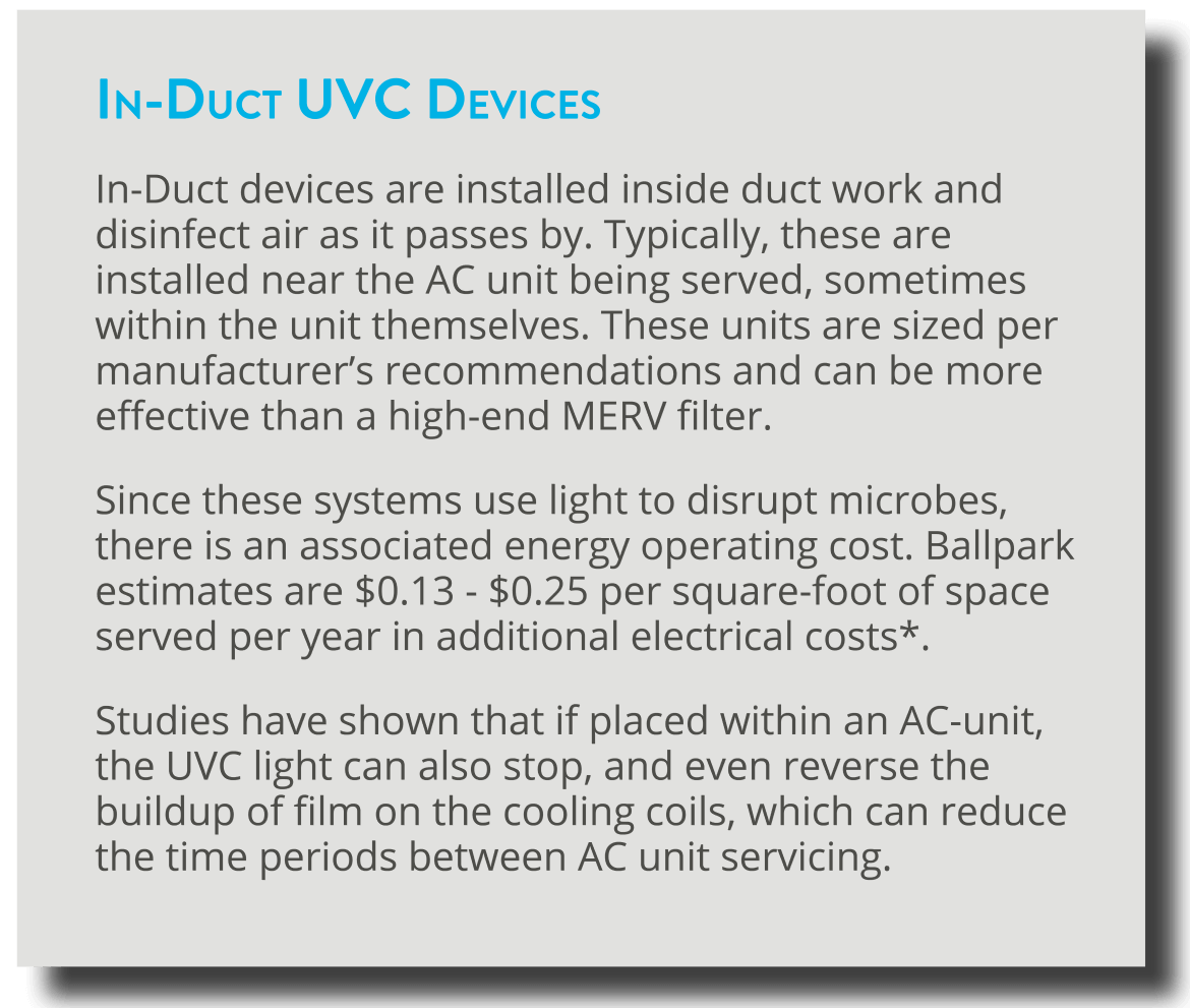 In-Duct UVC Devices
